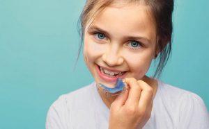 Retenedor de ortodoncia infantil